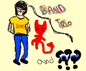 Band trio with AmazingPhil,Satan, and ????