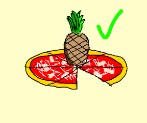 Pineapple on pizza is good for me