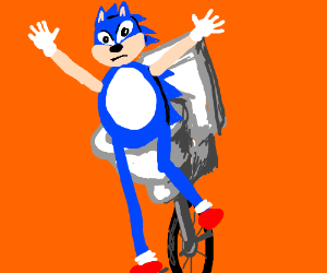 here come dat sanic o sh-t go fast
