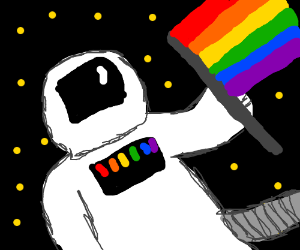 gay pride spaceman