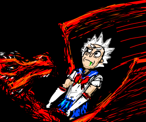 A dragon and an overrated characterAsAsailor