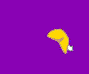 fortune cookie with a purple bg