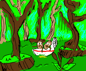 Potatoes in a swamp
