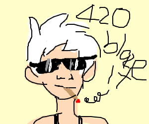dank boi with sunglasses and white hair