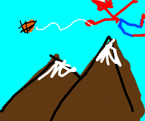 MY WEB basketball and two mountains