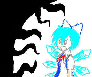 Cirno attacked by the darkness