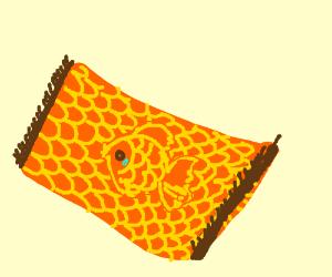 fish disguising in Beautiful Mosaic Rug