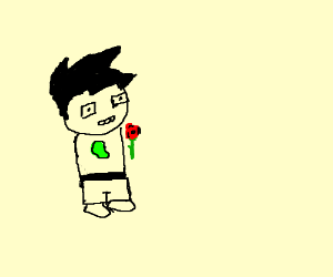 Homestuck lady with a rose.