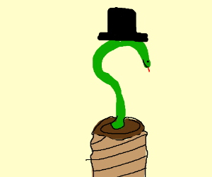 A dapper Quessssstion Mark Snake.
