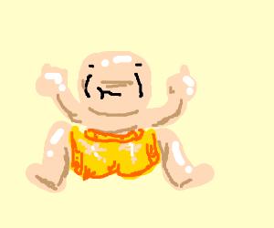 Rude Shirtless Man