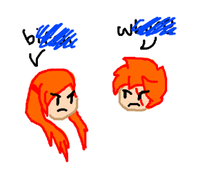 2 orange haired girls don't like each other
