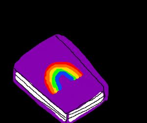 A magical rainbow book