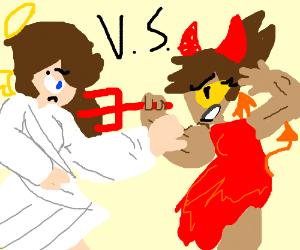 angel vs. demon