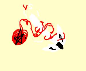 Angel lightsaber  VS Devil Dark Magic