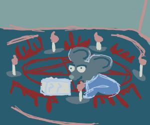 Mickey Mouse tries to summon Satan