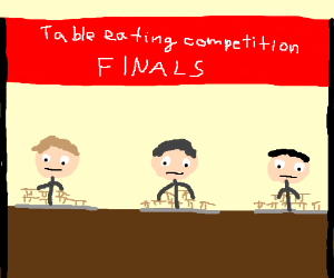 Table eating competition finals