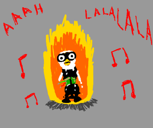 Singing Furby Endoskeleton On Fire Drawing By Omegafacelp Drawception