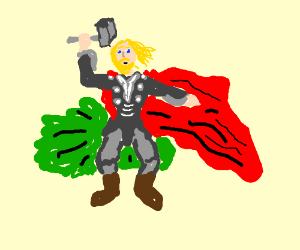 Thor loose a mighty fart