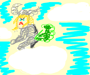 Thor farting in the clouds