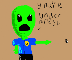 alien arrests ant