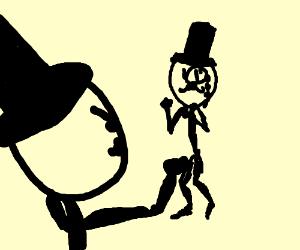 Two fighting men