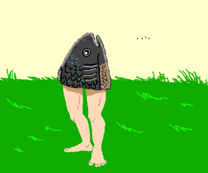 Fish face on legs