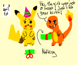 If Pikachu's birthday party was on April 1rst