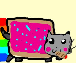 Nyan Cat smokes weed
