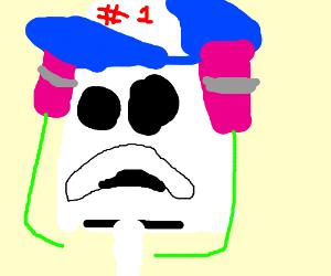 It was his hat Mr Krabs, He was number 1!
