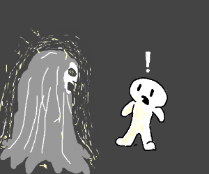 Silver wise wraith surprised a boy