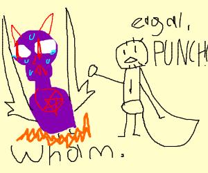 captain falcon rip-off punches purple satan