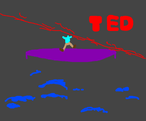 Laser shot at person giving TED talk