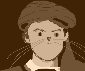 Professor quirrell with a cat face