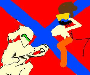 Ghenji VS Tracer in a CivilWarEsque style