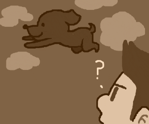 man wonders about flying dog