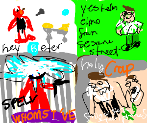 Hey Beter Spell Whomstd Drawception