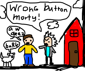 rick & morty are in kid's comic universe
