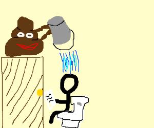 poop tries to deceive humans