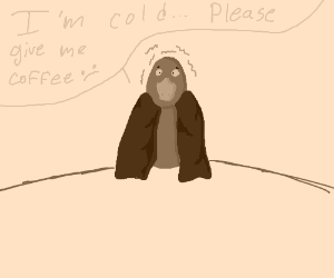 Cold duck wants coffee :(