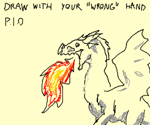 Draw with your 'wrong' hand P.I.O