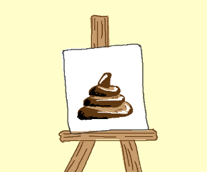 """A painting of """"The Magnificent Poop"""""""