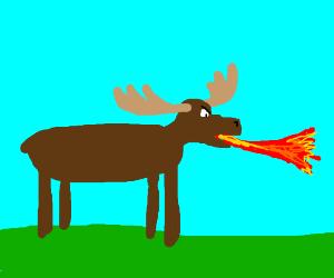 fire-breathing moose