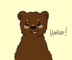 bear  saying hello