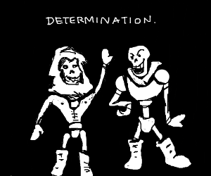 Papyrus has a Nyeh-off with Skeletor - Drawception