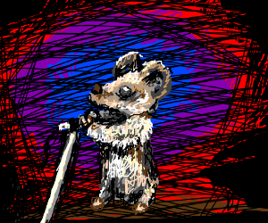 A mouse on stage
