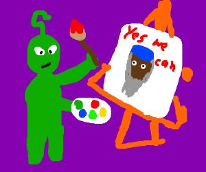 alien drawing Obama Bin Ladin