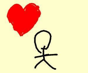 Stick man in love