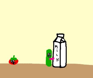 cucumber licks milk carton