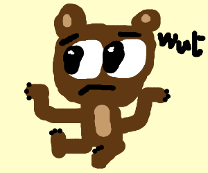 A confused bear