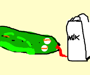 Snakes are charmed by milk